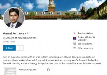 Amrut Acharya – career progression